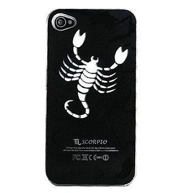 Free Shipping New Sense Scorpio Aluminium Plastic Hard Back Cover Case for iPhone 4/4S