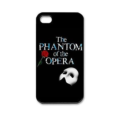 Free Shipping The Phantom of the Opera Hard Back Cover Case for iPhone 4/4S