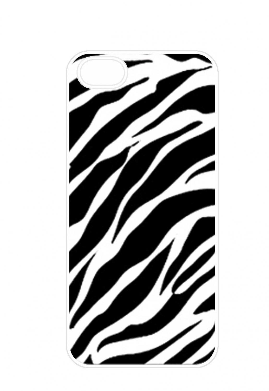 Zebra Stripe Aluminium Plastic Hard Back Case for iPhone 4/4S