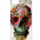 Floral Skull Aluminium Plastic Hard Back Case for iPhone 4/4S