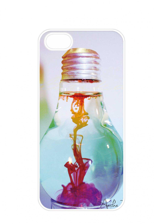 Free Shipping Beautiful Rainbow In Lamp Aluminium Plastic Hard Back Case for iPhone 4/4S