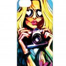 Free Shipping Fashion Sexy Girl Aluminium Plastic Hard Back Case for iPhone 4/4S