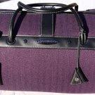 "Purple Herringbone Samsonite Black Label Vintage Collection 16"" Rare EUC bag"