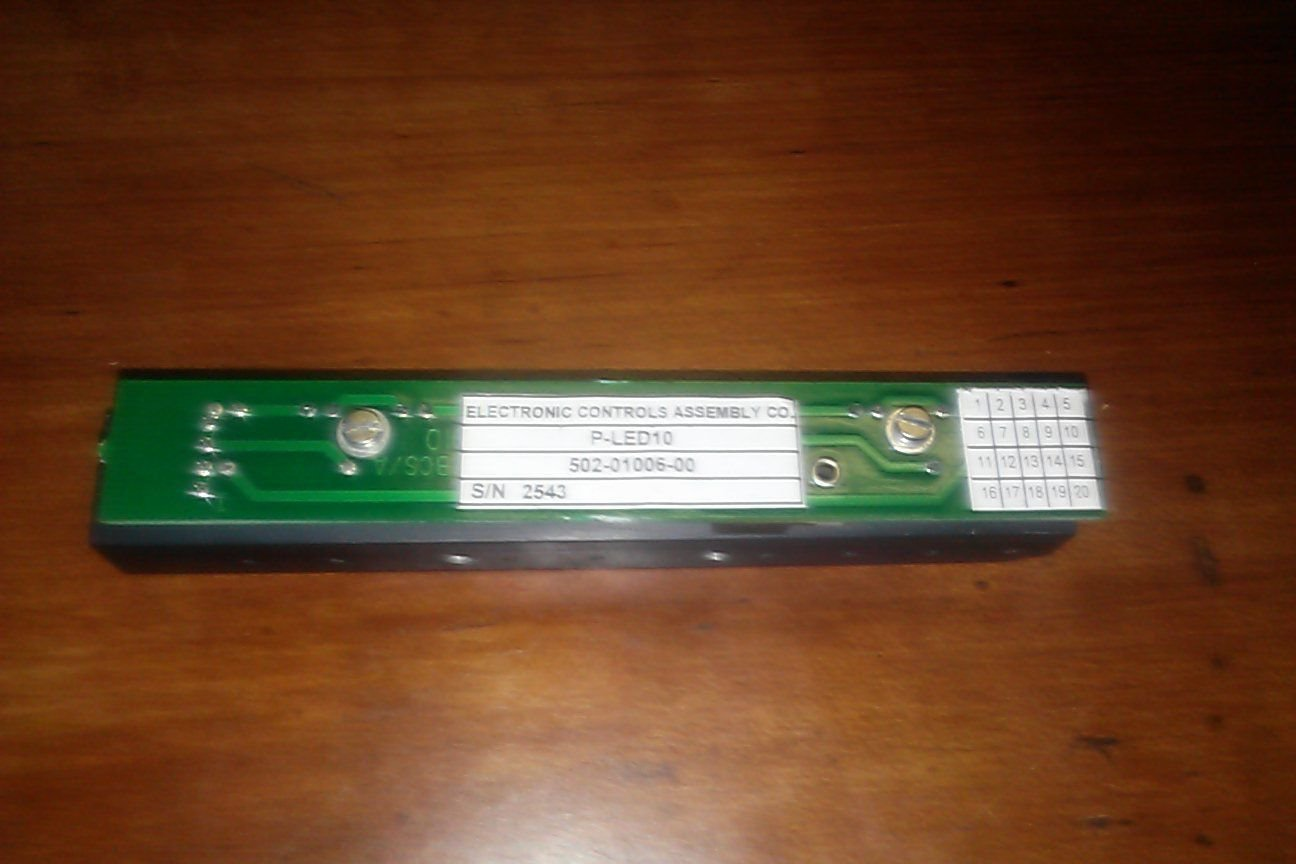 ELECTRONIC CONTROLS ASSEMBLY CO P-LED10 P LED 10 CHIP BOARD NEW 502-01006-00