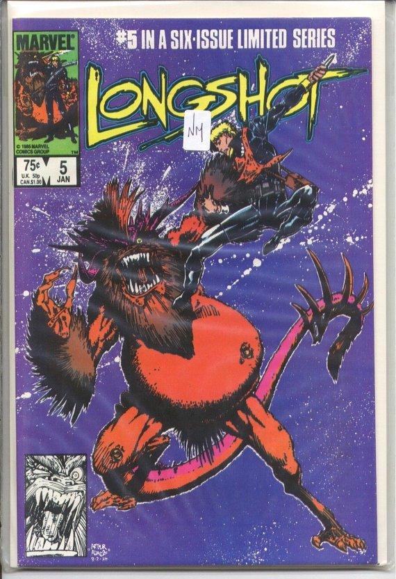 Longshot (1985 Limited Series) #5 VF Comic Book Comics