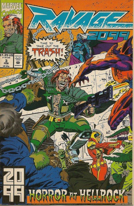 """Marvel Comics, """"Ravage 2099- Horror At Hellrock """" VOL-1 NO-3 FEB 1993"""