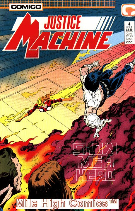 Comico JUSTICE MACHINE (1987 Series) #4 Near Mint Comics Book