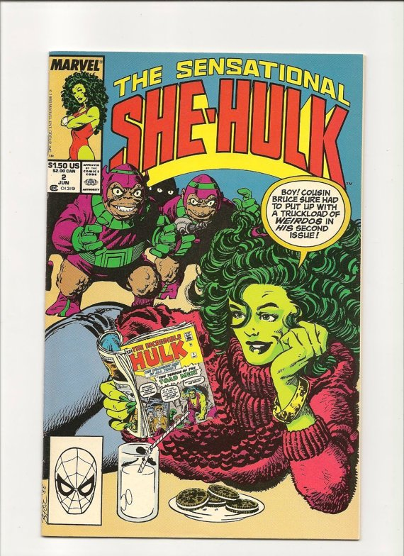 The Sensational She-Hulk #2 (Jun 1989, Marvel) Comic Book Comics