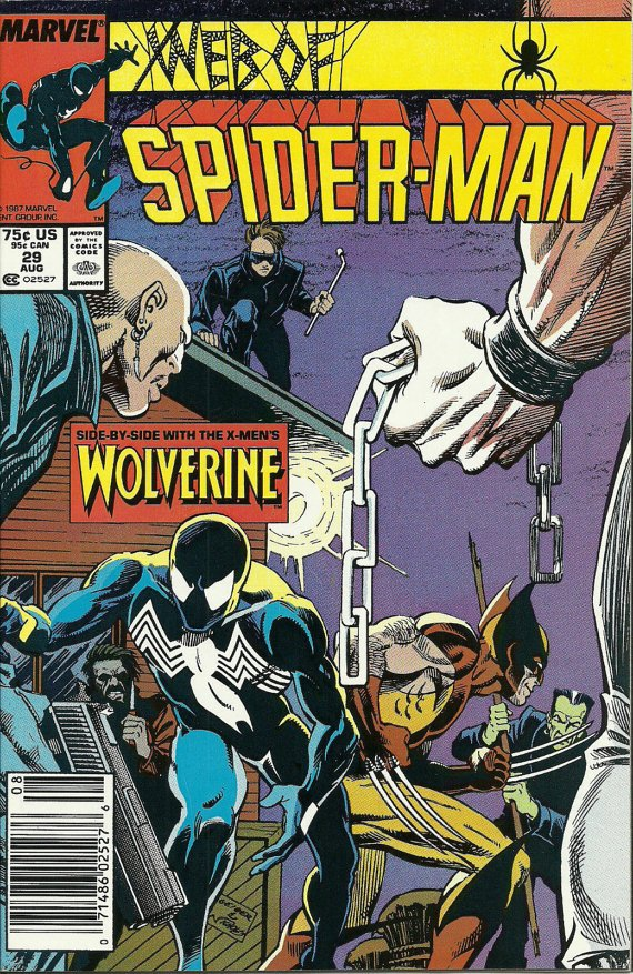 Web of Spider-Man #29 (Aug 1987, Marvel) VF/NM Wolverine Hobgoblin Comic Comics