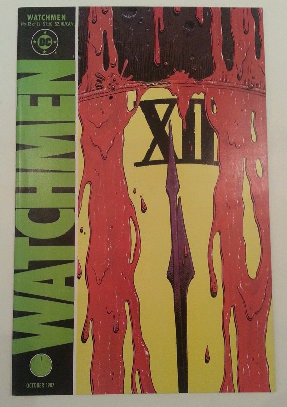 Watchmen #12 (Oct 1987, DC) comics Rorschach Niteowl Dr Manhattan Comedian book