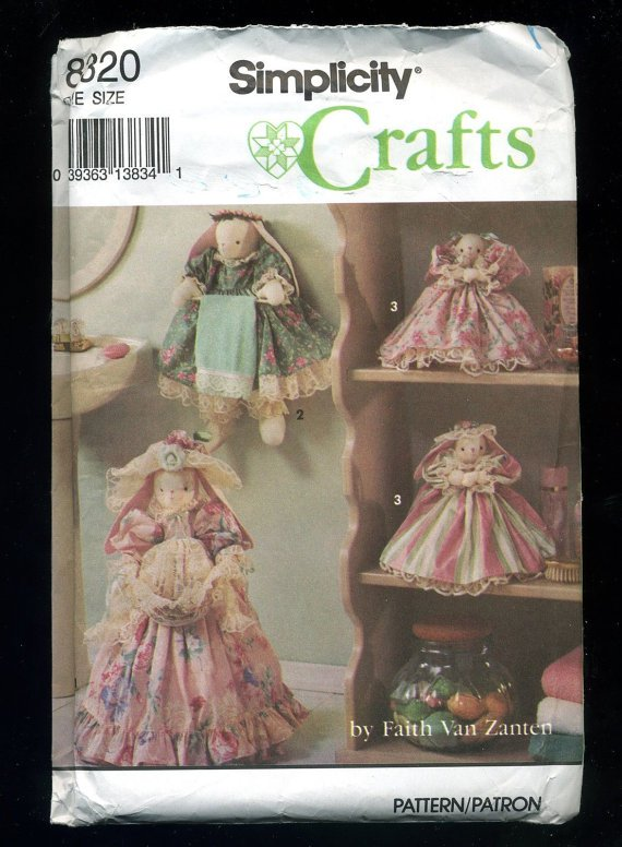 Simplicity Crafts 8320 Bathroom Bunnies Pattern Uncut 28 Pcs