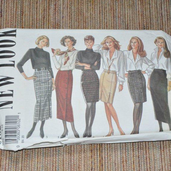 Sewing Pattern Simplicity New Look 6102 Skirt Uncut Size 8 thru 18