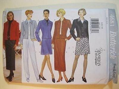 Butterick 4681 Fashion Essentials JACKET SKIRT PANT size 18, 20, 22 Pattern Uncut 1996