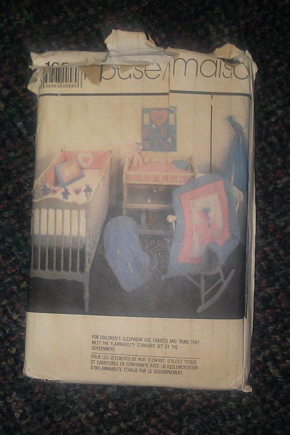 1985 Simplicity HOUSE 10 Baby Basics Pattern 125 Uncut Toy Diaper Holder Seat Cover