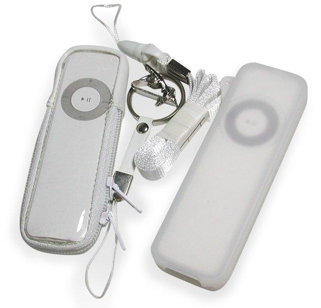Digicom SKIN & ZIPPER CASE IPOD ShUFFLE Kit Pack IP-123CL NIP IP-123