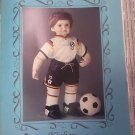 "PATTERNS BY CONNIE LEE FINCHUM KICKER P172 FITS A 21"" - 22"" DOLL PATTERN SOCCER"