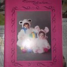 """PATTERNS BY CONNIE LEE FINCHUM BUNNIES LAMBS P1829 18"""" 19"""" DOLL PATTERN"""