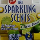 BSI Sparkling Scents Air Freshner Citrus Twist 2Pack