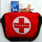 Johnson&Johnson First Aid Kit Bag Comes With Pack Of 50 Assorted Sized Bandages!