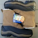 Boy Youth Taupe Leather/Rubber Ozark Trail Winter Snow Boot Size:12