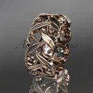 14kt rose gold leaf and vine wedding ring, engagement ring, wedding band ADLR49