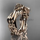 14kt rose gold celtic knot wedding band CT7354G