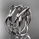 14kt white gold leaf,vine, flower wedding ring,wedding band ADLR352G