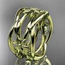 14kt yellow gold leaf,vine, flower wedding ring,wedding band ADLR352G
