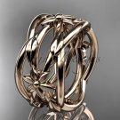 14kt rose gold leaf,vine, flower wedding ring,wedding band ADLR352G