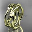 14kt yellow gold leaf,vine, flower wedding ring,wedding band ADLR350G