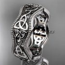 Platinum celtic trinity knot engagement ring, wedding band CT750B