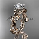 14kt rose gold celtic trinity knot engagement ring, wedding ring CT759