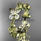 14kt yellow gold diamond celtic trinity knot wedding ring, engagement band CT7139B