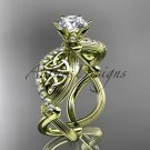 14kt yellow gold diamond celtic trinity knot wedding ring, engagement ring CT7192