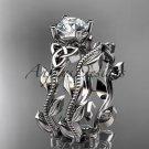 Platinum celtic trinity knot wedding ring, engagement set CT7238S