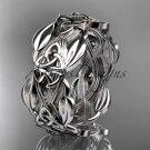 Platinum celtic trinity knot wedding band, engagement ring CT7259B