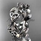 Platinum   celtic trinity knot wedding band, engagement ring CT7316B