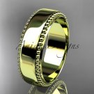 14kt yellow gold leaf and vine wedding band, engagement ring ADLR380G