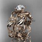14kt rose gold diamond wedding ring, engagement ring ADLR188