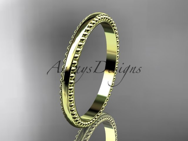 14kt yellow gold classic wedding band, engagement ring ADLR384G