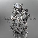 Platinum diamond engagement set with a Forever One Moissanite center stone ADLR238