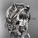 Platinum leaf and vine wedding ring,engagement ring,wedding band ADLR263