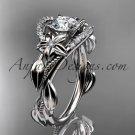 Platinum diamond unique engagement ring, wedding ring ADLR326