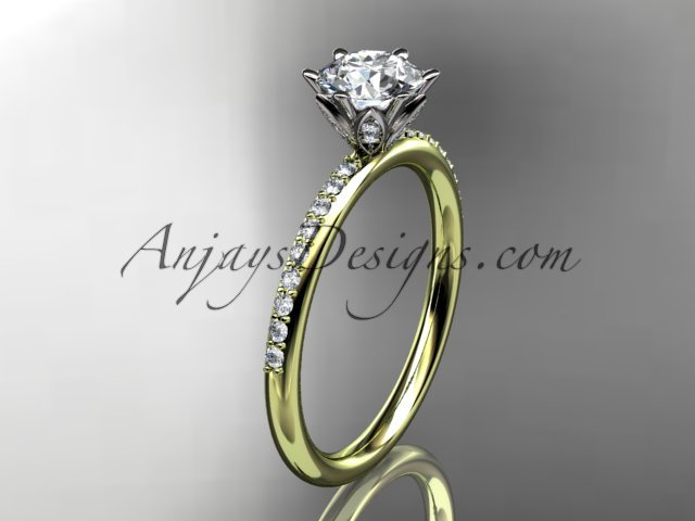 14kt yellow gold diamond unique engagement ring,wedding ring ADER145
