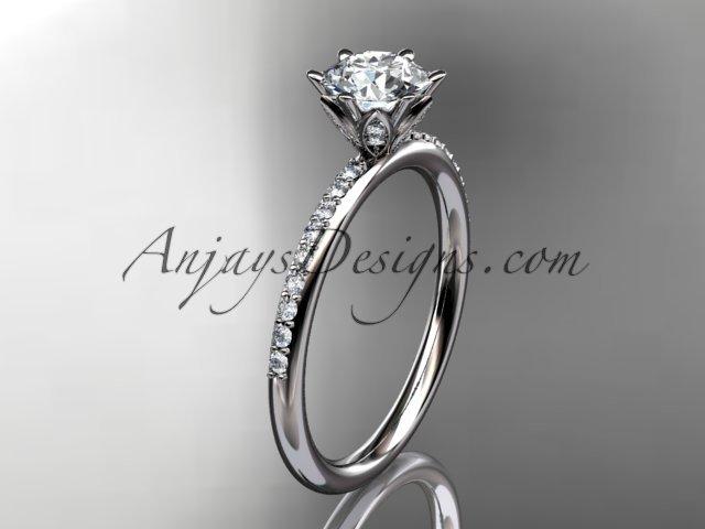 14kt white gold diamond unique engagement ring,wedding ring ADER145