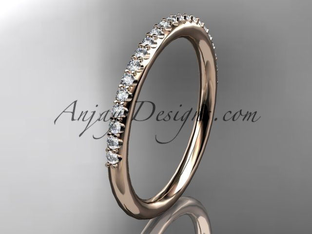 14k rose gold diamond unique wedding ring,engagement ring,wedding band,stacking ring ADER103