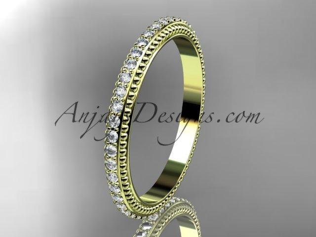 14kt yellow gold diamond wedding ring,engagement ring,wedding band ADER86B