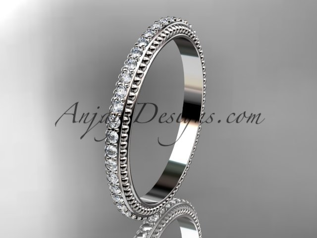 14kt white gold diamond wedding ring,engagement ring,wedding band ADER86B