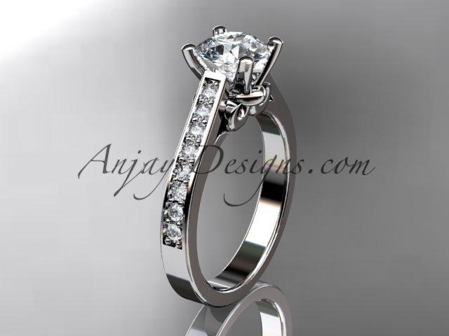 14kt white gold diamond unique engagement ring,wedding ring ADER134