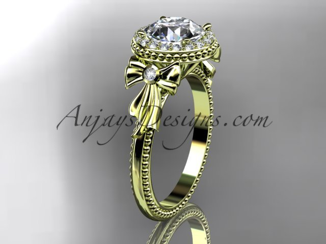 14kt yellow gold diamond unique engagement ring,wedding ring ADER157